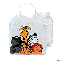 Clear Vinyl Zoo Animal Tote Bags