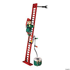 Climbing Elf with Ladder Christmas Decoration