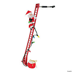 Climbing Santa with Ladder Christmas Decoration