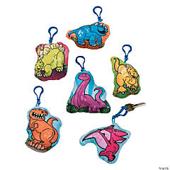 Clip Critters Stuffed Dinosaur Keychains