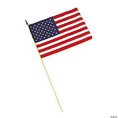 "Cloth Large American Flags - 12"" x 18"""