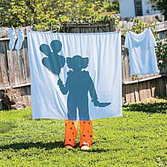 Clown Silhouette Laundry Line Decoration