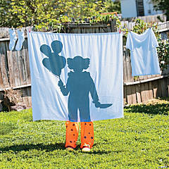 Clown Silhouette Laundry Line Halloween Decoration