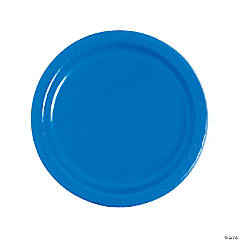 Cobalt Blue Paper Dinner Plates - 24 Ct.