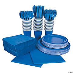 Cobalt Blue Tableware Kit for 48 Guests