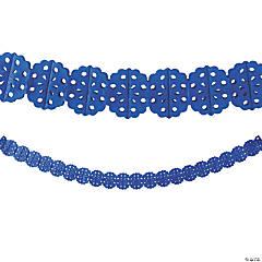 Cobalt Blue Tissue Garland