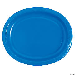 Cobalt Oval Dinner Plates