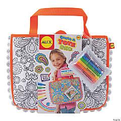 Color A Tote Bag Kit-Paisley Flower