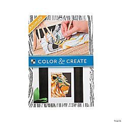Color and Create: Animals Adult Coloring Stack
