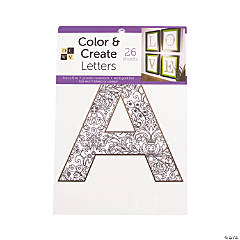 Color and Create: Letters Adult Coloring Stack