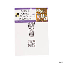 Color and Create: Numbers & Symbols Adult Coloring Stack