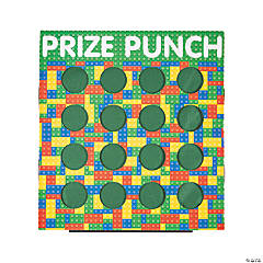 Color Brick 16-Hole Prize Punch Game
