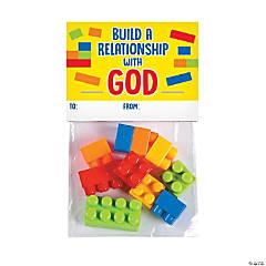 Color Brick Cross Valentine's Day Exchange Building Block Set - 12 Pc.