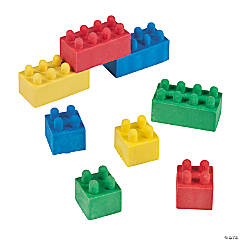 Color Brick Erasers - 24 Pc.