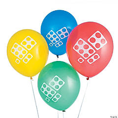 "Color Brick Party 12"" Latex Balloons"