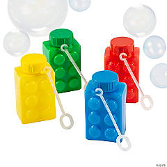Color Brick Party Bubble Bottles
