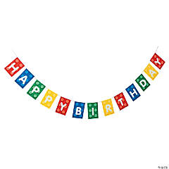 Color Brick Party Pennant Garland