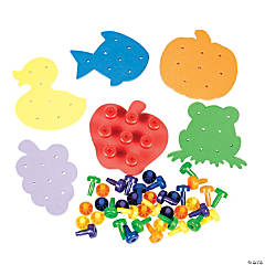 Color Match Peg Board Set