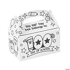 Color Your Own 100th Day of School Boxes