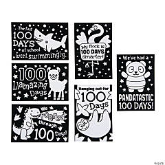Color Your Own 100th Day of School Mini Fuzzy Posters