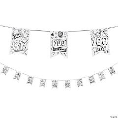 Color Your Own 100th Day of School Pennants