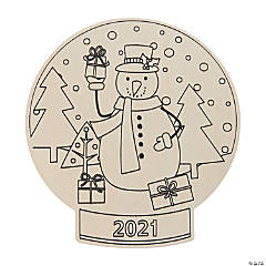 Color Your Own 2020 Snow Globe Shapes