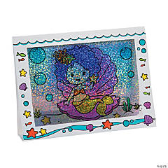 Color Your Own 3D Mermaid Frames