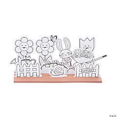 Color Your Own 3D Spring Garden Craft Kit