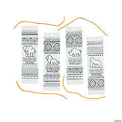 Color Your Own African Safari VBS Bookmarks