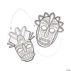 Color Your Own African Safari VBS Tribal Masks