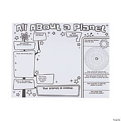 "Color Your Own ""All About a Planet"" Posters"