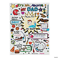 """Color Your Own """"All About Dad"""" Posters"""