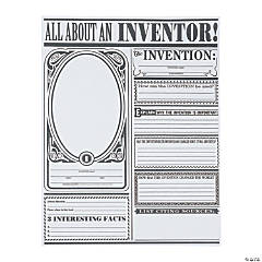 """Color Your Own """"All About Inventors"""" Posters"""