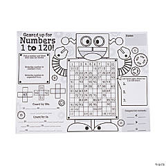 "Color Your Own ""All About Math Numbers 1 to 120"" Posters"