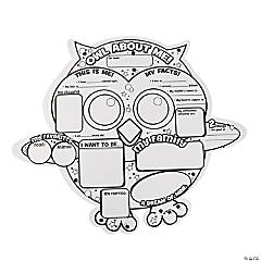 "Color Your Own ""All About Me"" Owl Posters"