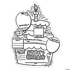 """Color Your Own """"All About My Birthday"""" Posters"""