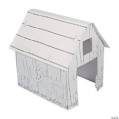 Color Your Own Barn Playhouse