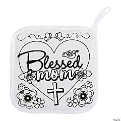 Color Your Own Blessed Mom Pot Holders