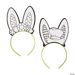 Color Your Own Bunny Ear Headbands 3ec3cd69f60b