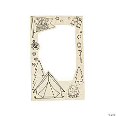 Color Your Own Camp Picture Frame Magnets