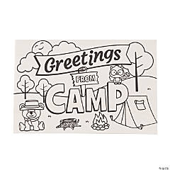 Color Your Own Camp Wooden Postcards