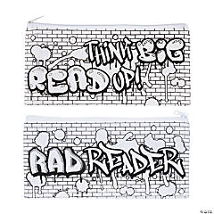 Color Your Own Canvas Rad Reader Pencil Cases