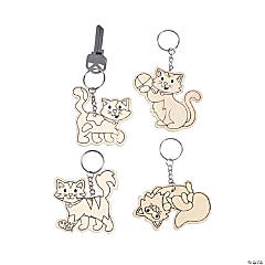 Color Your Own Cat Keychains