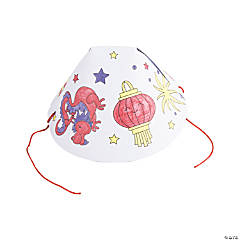 Color Your Own Chinese New Year Hats