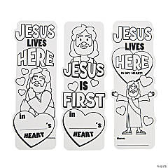Color Your Own Christ Lives Here Bookmarks Craft Kit