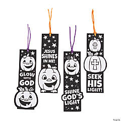 Color Your Own Christian Pumpkin Fuzzy Bookmarks