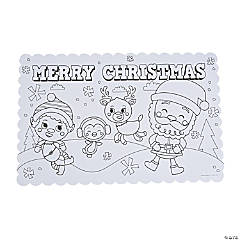 Color Your Own Christmas Placemats