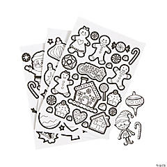 color your own christmas sticker sheets