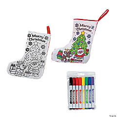 Color Your Own Christmas Stocking Kit