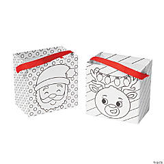 Color Your Own Christmas Treat Buckets